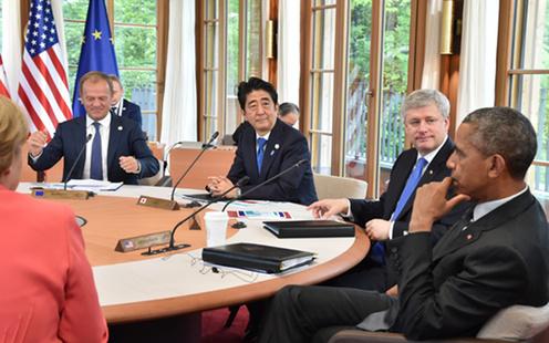 20150608 G7エルマウ・サミットに出席する安倍総理