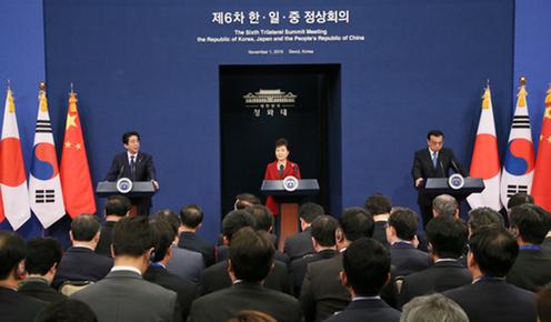 151101 日中韓首脳共同記者発表