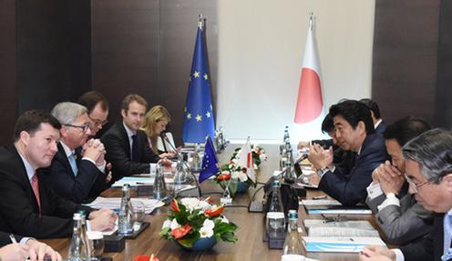 151115 G20アンタルヤ・サミット 日EU首脳会談