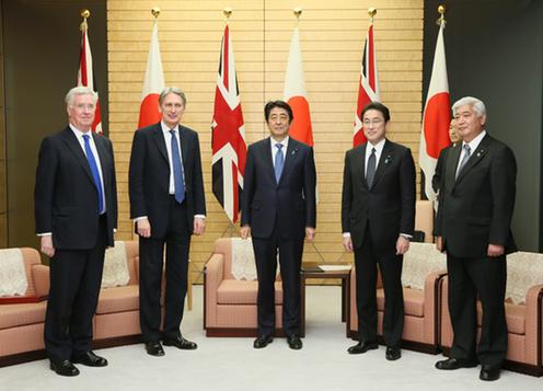 160108ハモンド英外務・英連邦大臣及びファロン英国防大臣による表敬