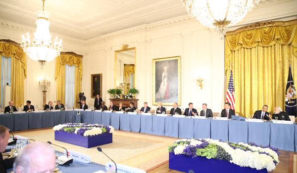 160331 米国核セキュリティ・サミット2日目 オバマ大統領主催ワーキングディナー