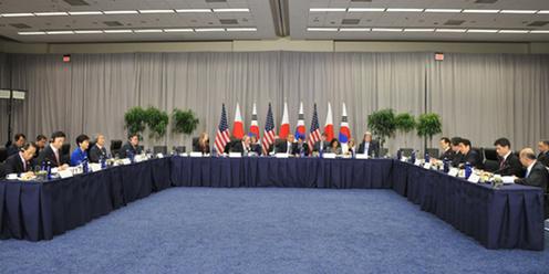 160331 米国核セキュリティ・サミット2日目 日米韓首脳会談1