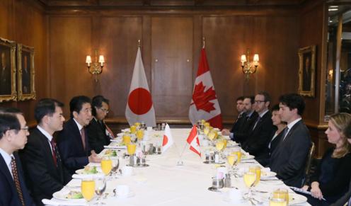 160331 米国核セキュリティ・サミット2日目 日・カナダ首脳会談