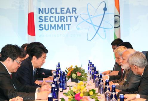 160401 米国核セキュリティ・サミット3日目 日・インド首脳会談