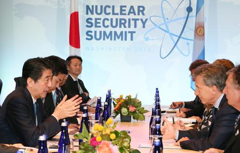 160401 米国核セキュリティ・サミット3日目 日・アルゼンチン首脳会談