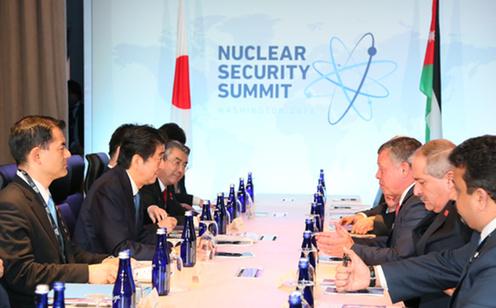 160401 米国核セキュリティ・サミット3日目 日・ヨルダン首脳会談2