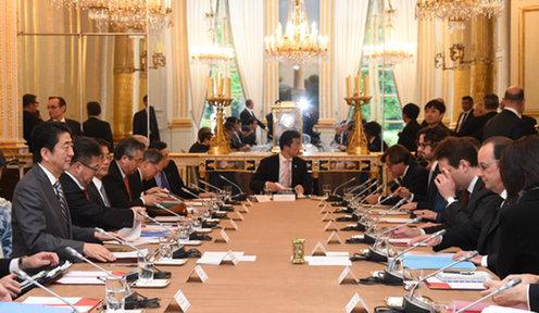 160502 日仏首脳会談