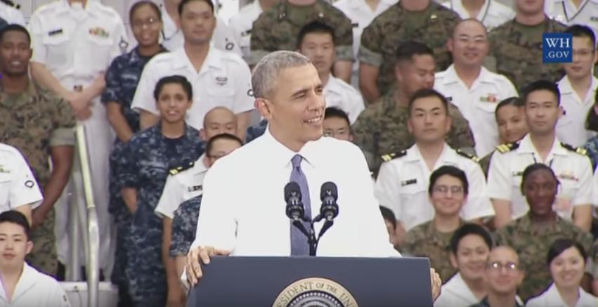 20160527 岩国基地で演説したオバマ大統領
