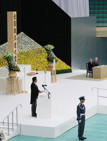 全国戦没者追悼式 式辞を述べる安倍総理2