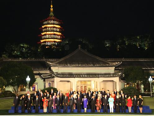 160904 G20 歓迎式典における公式記念撮影