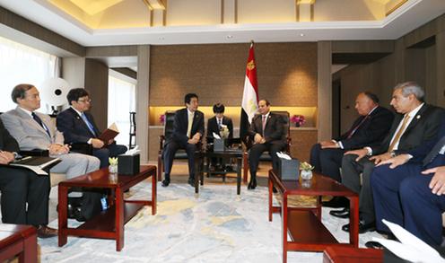 160904 G20 日エジプト首脳会談2