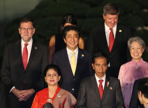 160904 G20 歓迎式典における公式記念撮影2