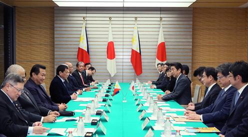 フィリピン ドゥテルテ大統領 来日 日・フィリピン首脳会談