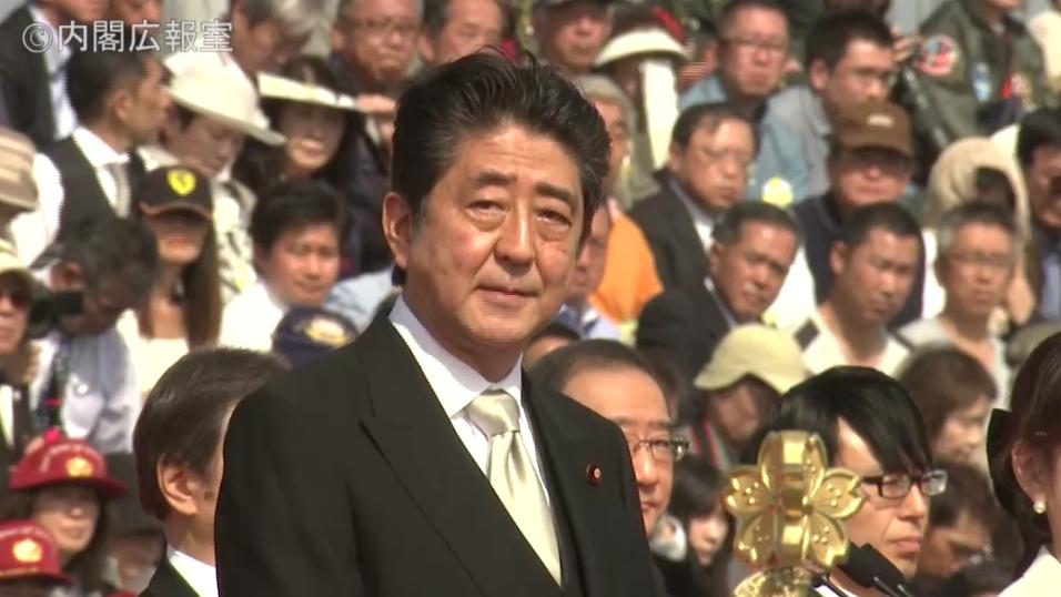 161023 自衛隊記念日観閲式 安倍内閣総理大臣訓示
