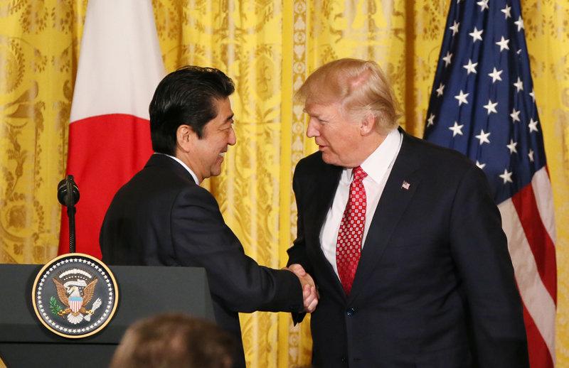日米共同記者会見 安倍首相とトランプ大統領