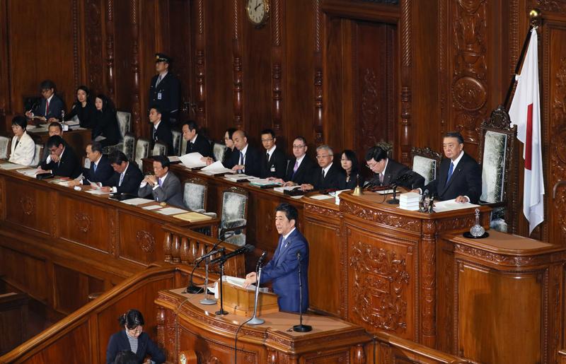 平成30年1月22日 第196回国会における安倍内閣総理大臣施政方針演説