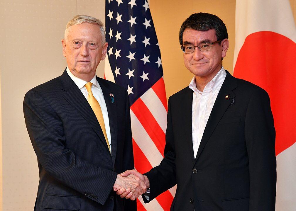 河野外務大臣とマティス米国国防長官との会談