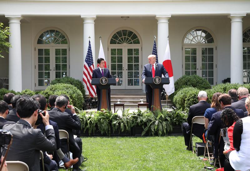 日米首脳会談・共同記者会見 安倍首相 トランプ大統領