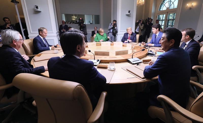 G7 シャルルボワサミット ワーキングセッション